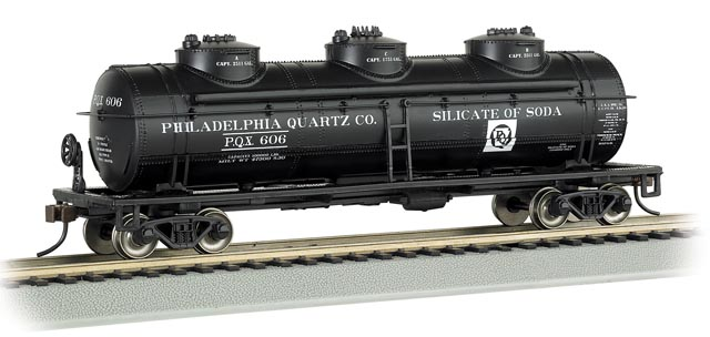 Philadelphia Quartz Company - 40' Three-Dome Tank Car (HO Scale)