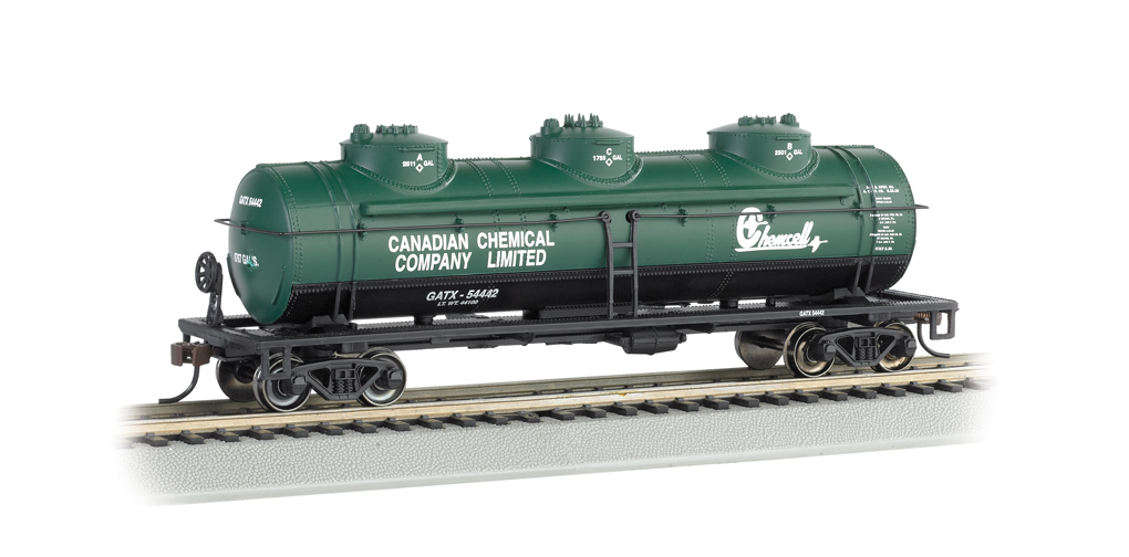 Chemcell - 40' Three-Dome Tank Car (HO Scale)
