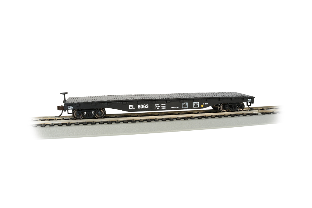 Erie Lackawanna #8063 - 52' Flat Car (HO Scale)