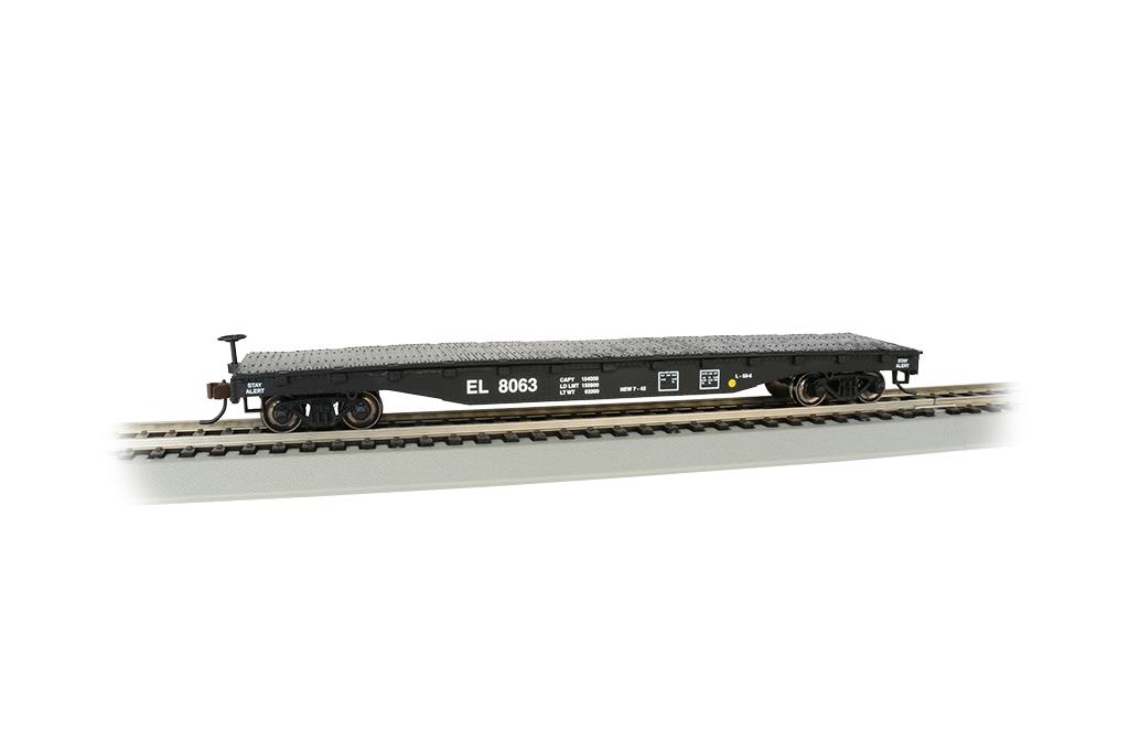 Bachmann 17304 HO 52' Flatcar Series Erie-Lackawanna #8063