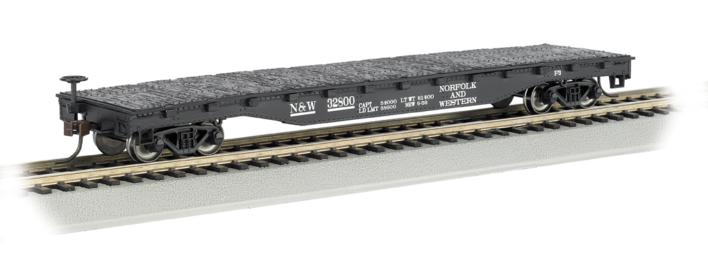 Norfolk & Western - 52' Flat Car (HO Scale)