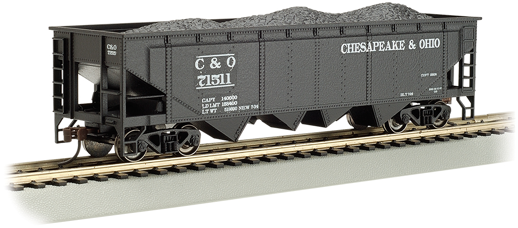 BAC17605 Bachmann Industries HO 40' Quad Hopper C&O#71511 160-17605