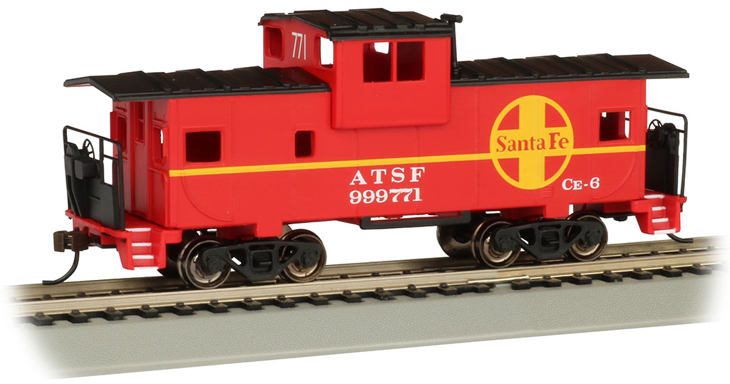 Santa Fe #999771 - Red 36' Wide-Vision Caboose (HO Scale)