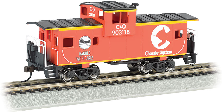 Chessie® #903118 - Orange - 36' Wide-Vision Caboose (HO Scale)