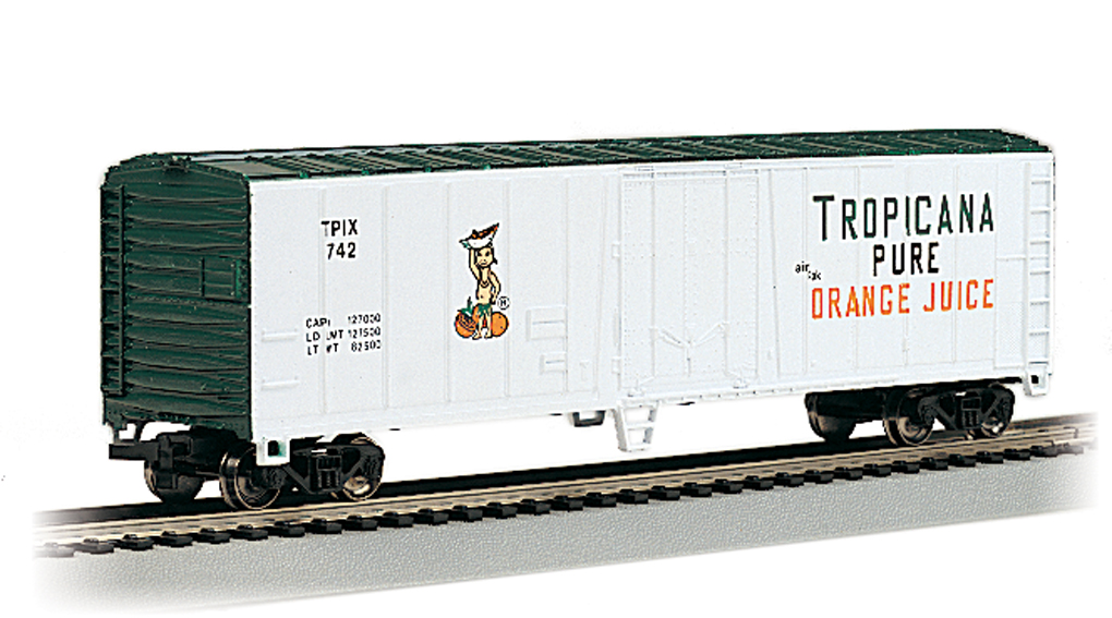Tropicana - Wht & Grn - 50' Steel Reefer (HO Scale)