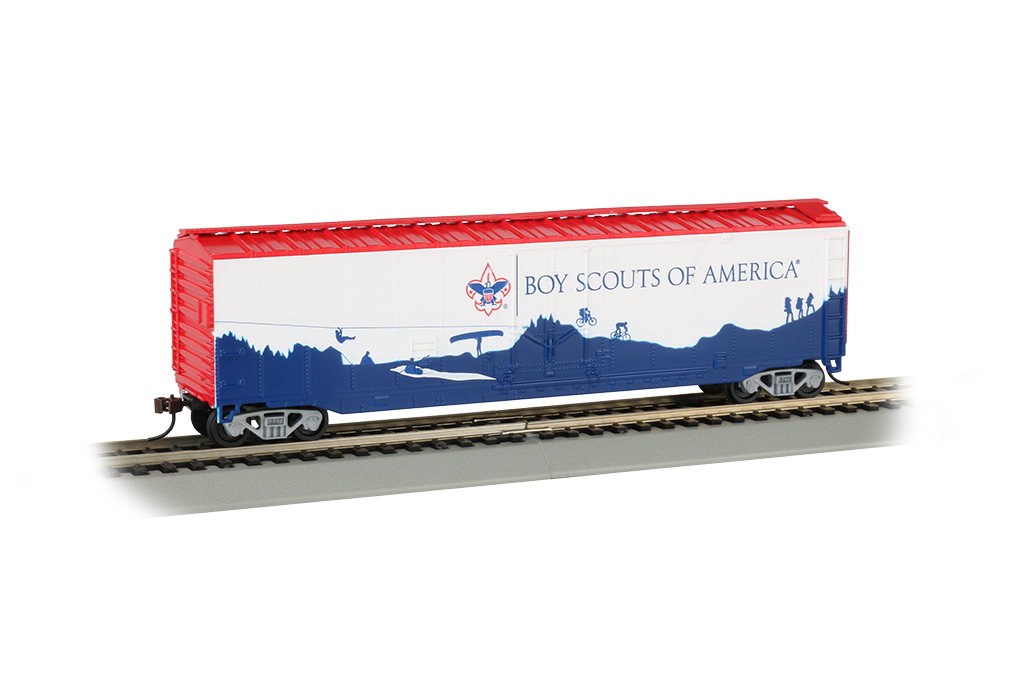 BSA® - Adventure Landscape - 50' Plug Door Box Car (HO)