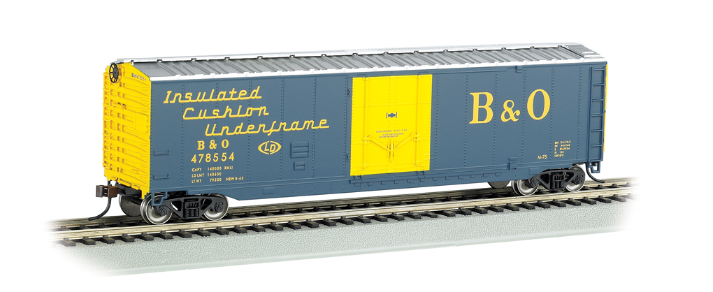 Baltimore & Ohio® - 50' Plug Door Box Car (HO Scale)