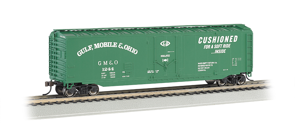 Gulf Mobile & Ohio - 50' Plug Door Box Car (HO Scale)
