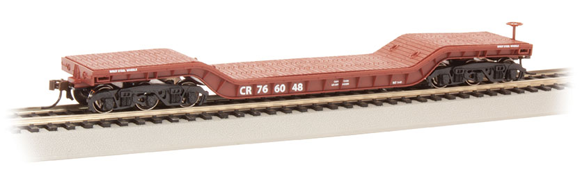 52' Center-Depressed Flat Car - Conrail #766048 (HO Scale)