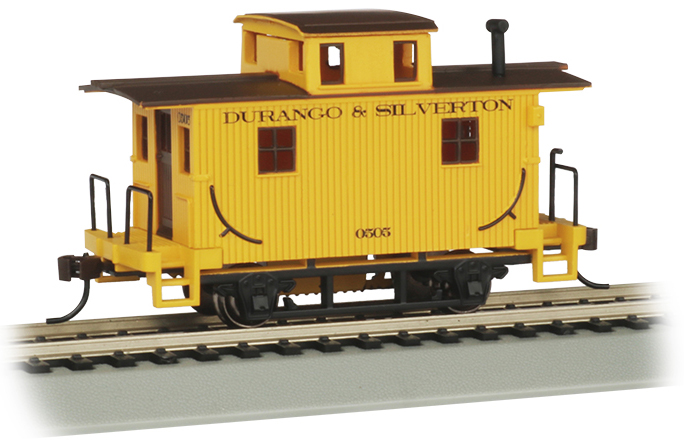 Durango & Silverton (Yellow) Old-Time Bobber Caboose (HO Scale)