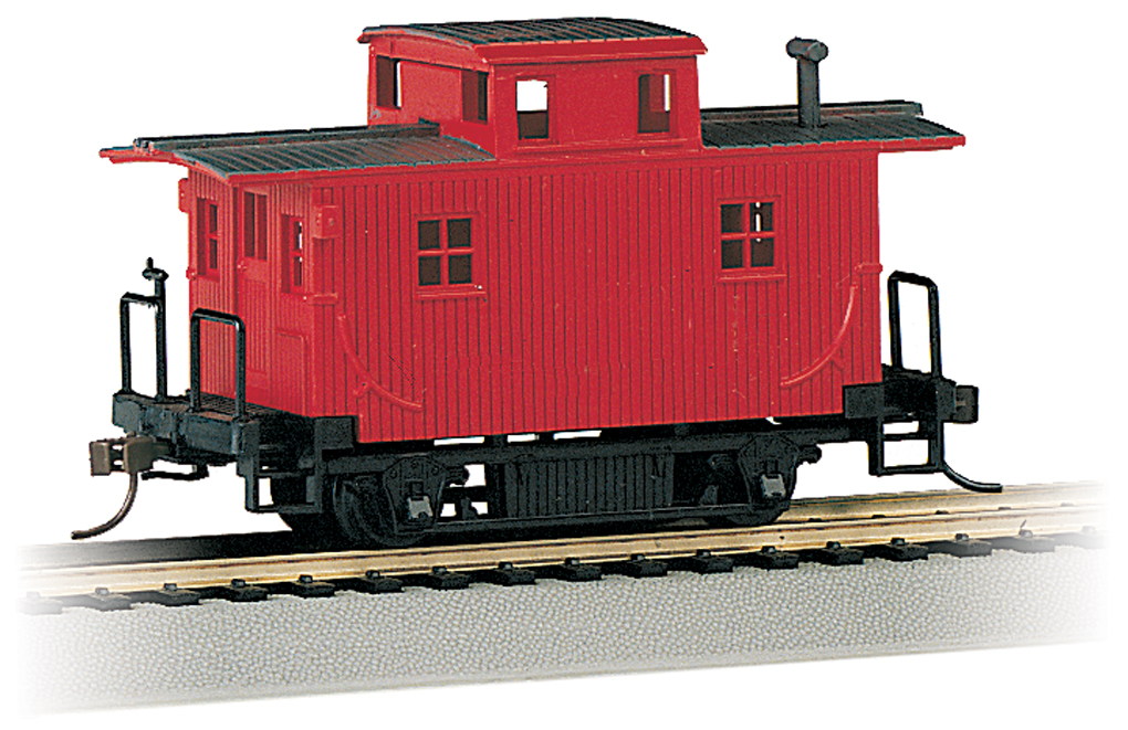 Painted Unlettered - Old-Time Bobber Caboose (HO Scale)