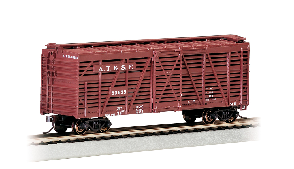 Santa Fe - 40' Stock Car (HO Scale)