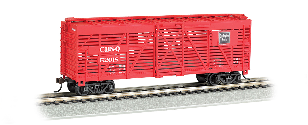 CB&Q - 40' Stock Car (HO Scale)