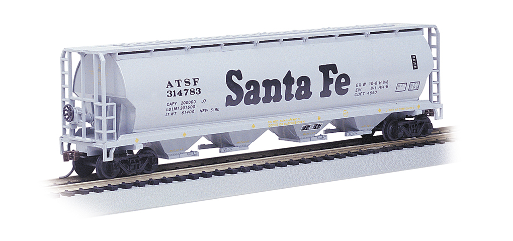 Santa Fe - 4 Bay Cylindrical Grain Hopper
