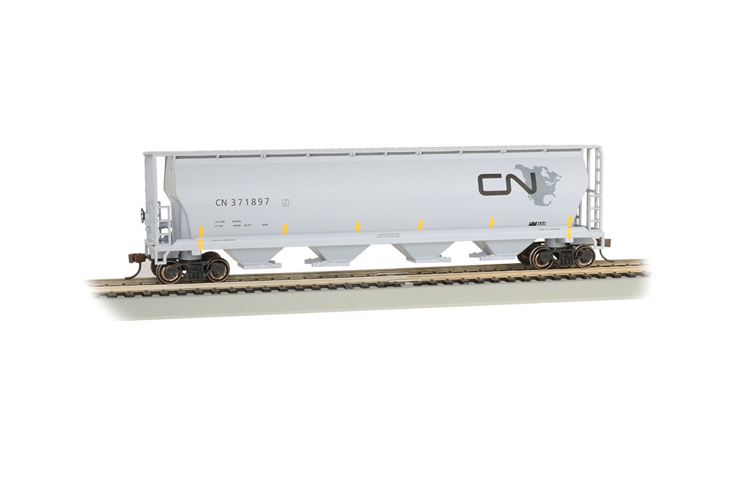 CN - North American Logo - 4 Bay Cylindrical Grain Hopper