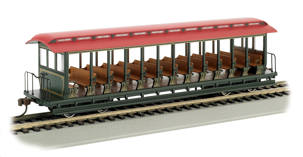 Unlettered Green/Red - Jackson Sharp Open-Sided Excursion Car