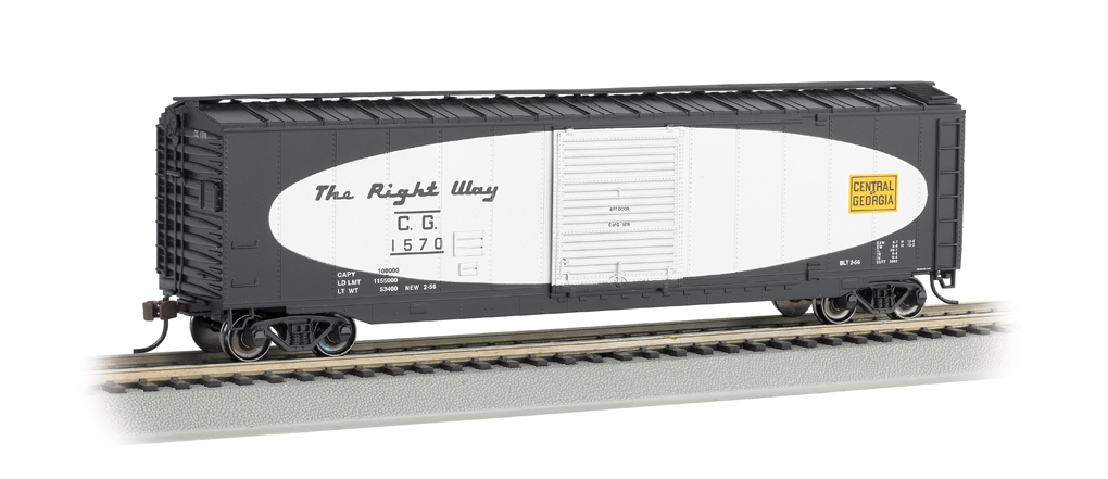 Central of Georgia(football scheme)-50' Sliding Door Box Car(HO