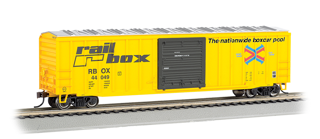 Rail Box #44049 - ACF 50.5' Outside Braced Box Car (HO Scale)