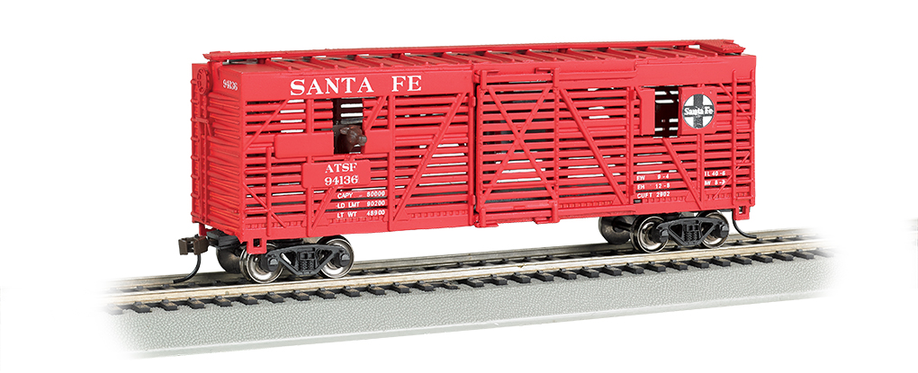 BAC19705 Bachmann Industries HO Animated Stck Car ATSF 160-19705