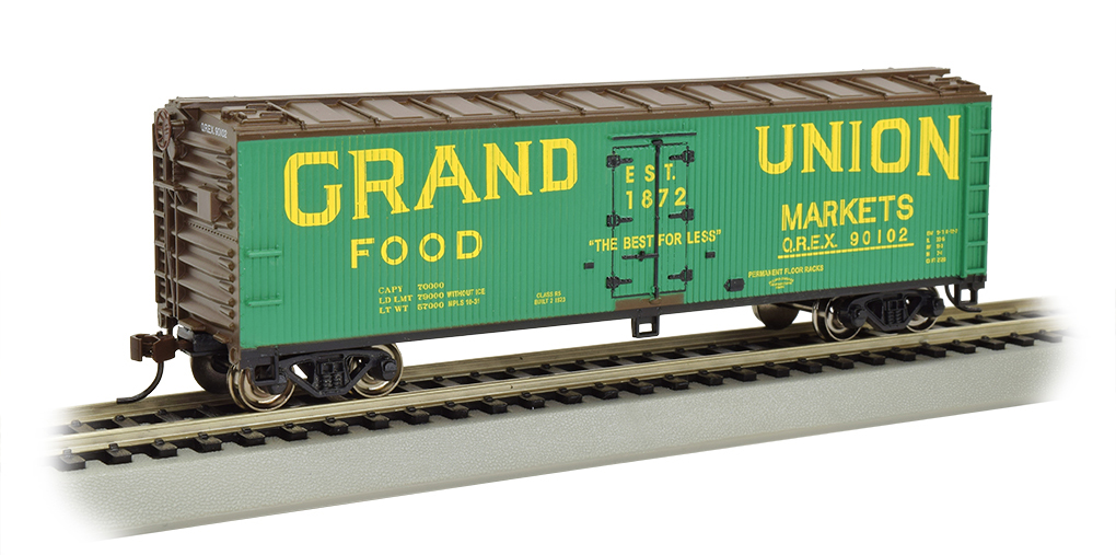 BAC19806 Bachmann Industries HO 40' WS Reefer Grand Union 160-19806