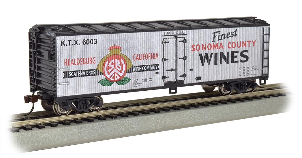 Sonoma County Wines - 40' Wood-side Refrig Box Car (HO Scale)