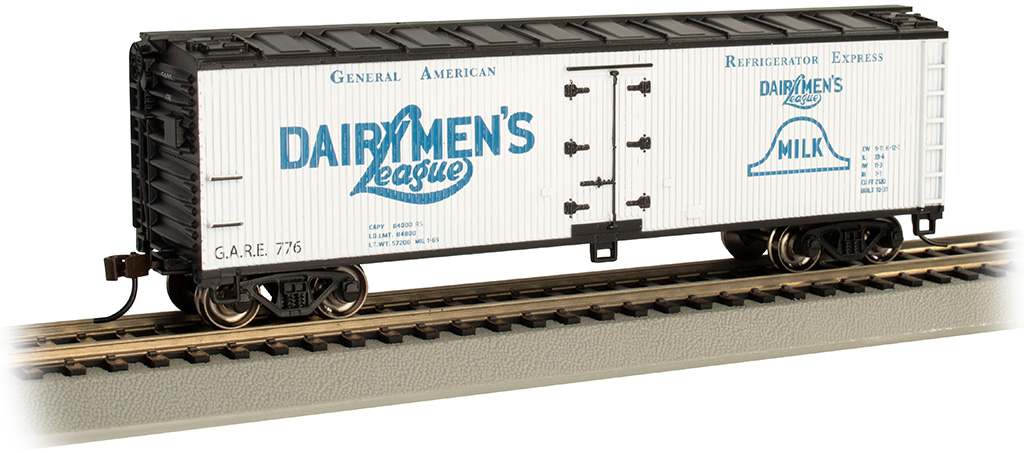 Dairymen's League - 40' Wood-side Refrig Box Car (HO Scale)