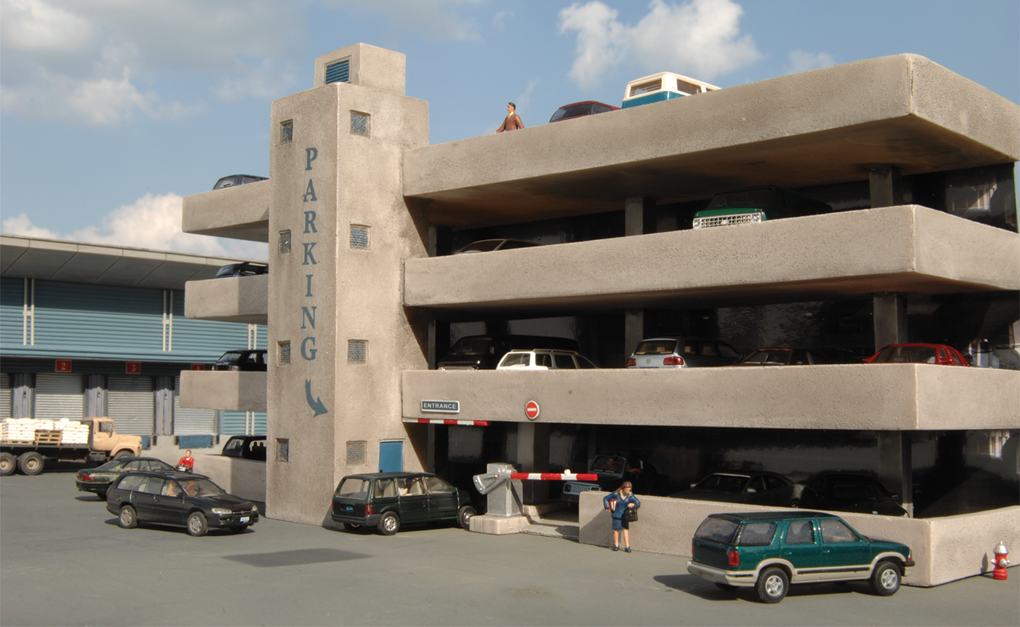 Four-Story Parking Garage (HO Scale)