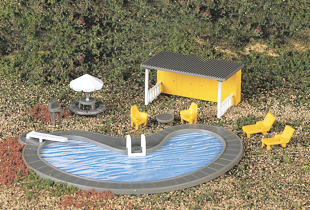 Swimming pool accessories ho scale 42215 bachmann trains online store for Rocky mountain house swimming pool schedule