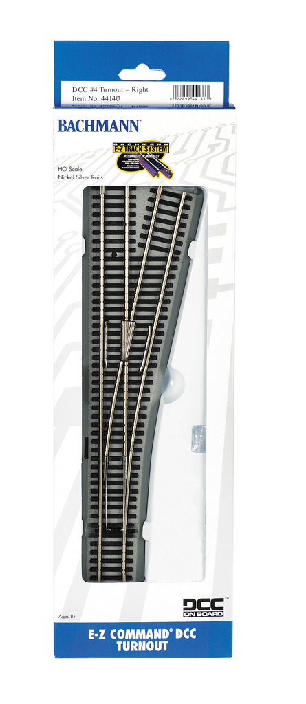 E-Z Command® DCC #4 Turnout- Right (HO Scale)