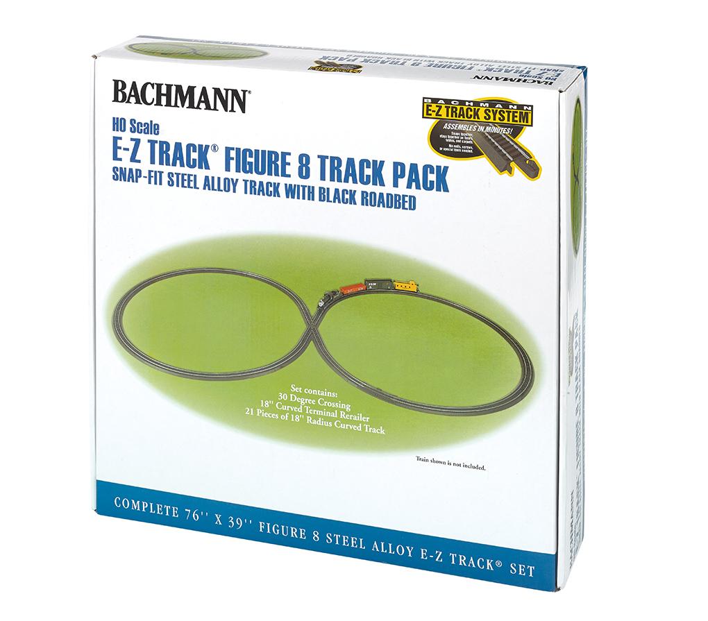 BAC44487 Bachmann Industries HO E-Z Fig-8 Steel Trck Pack 160-44487