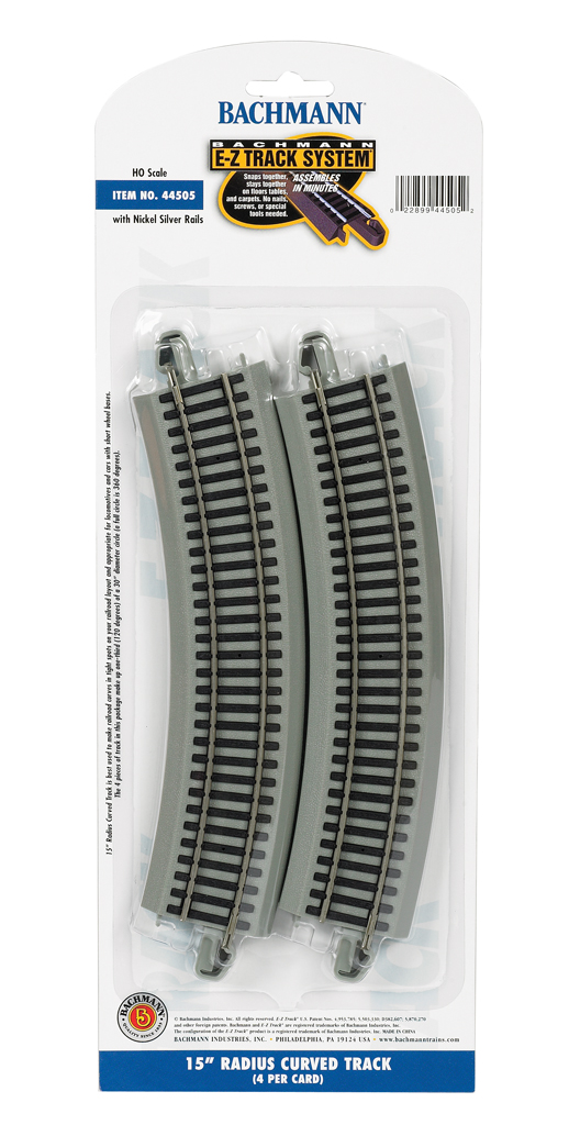 "15"" Radius Curved (HO Scale)"