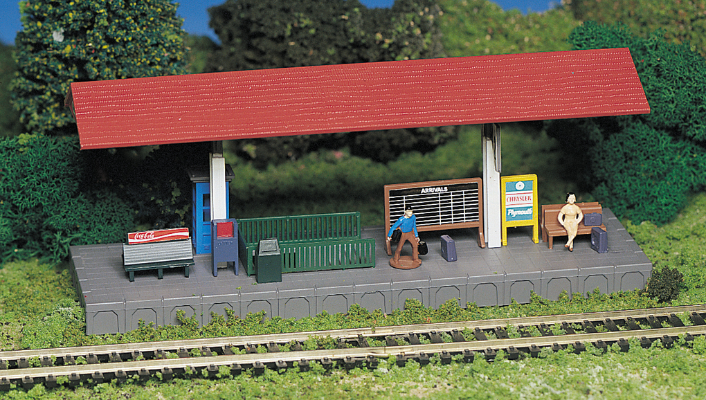 Platform Station (HO Scale) - Click Image to Close