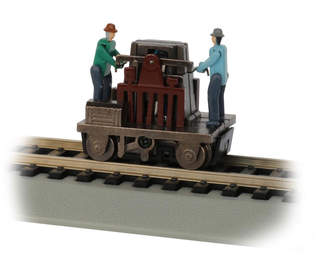 Gandy Dancer Operating Hand Car - Brown