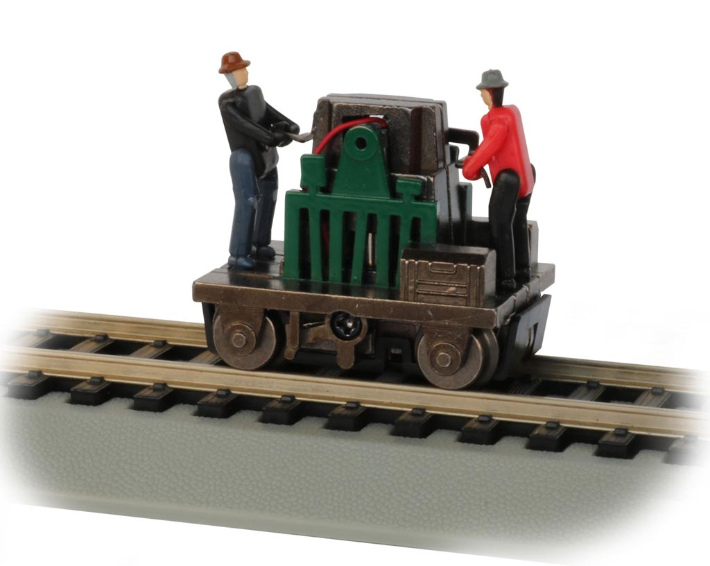 Gandy Dancer Operating Hand Car - Green