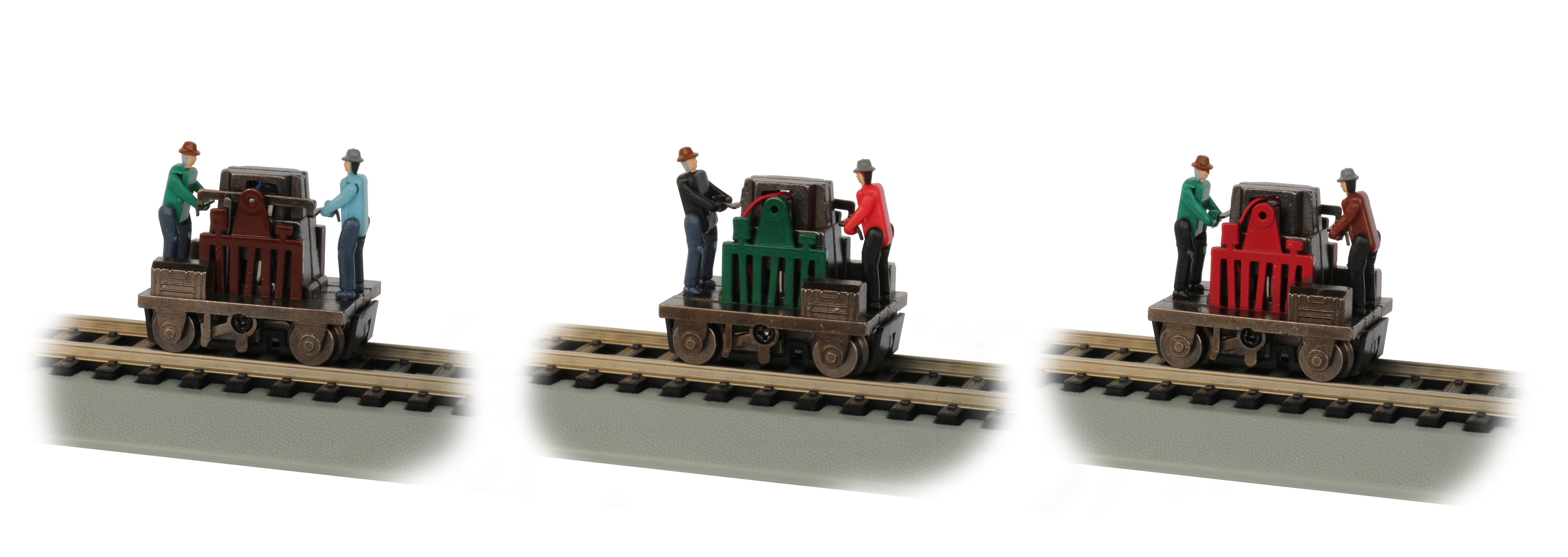 Gandy Dancer Operating Hand Car - Assorted Colors (HO Scale)