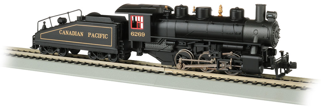 Bachmann 50607 HO USRA 0-6-0 Switcher w/Slope-Back Tender Standard DC Canadian Pacific #6269 graphite 160-50607