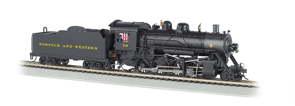 Norfolk & Western # 718 Baldwin 2-8-0 Consolidation (HO Scale)