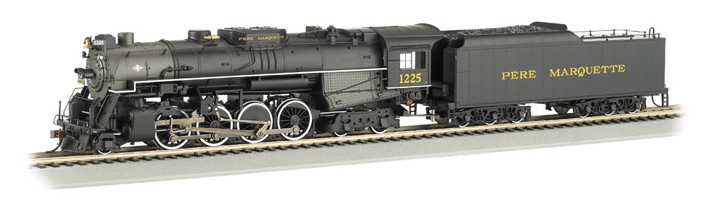 PERE MARQUETTE #1225 - DCC Sound Value (HO 2-8-4 Berkshire)