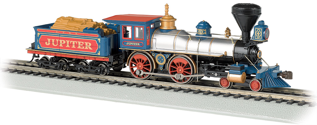 Central Pacific 'Jupiter' - DCC Sound Value (HO American 4-4-0)