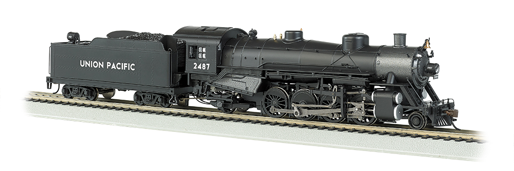 UP® #2487 Light 2-8-2 w/Med. Tender - DCC Sound Value (HO Scale)