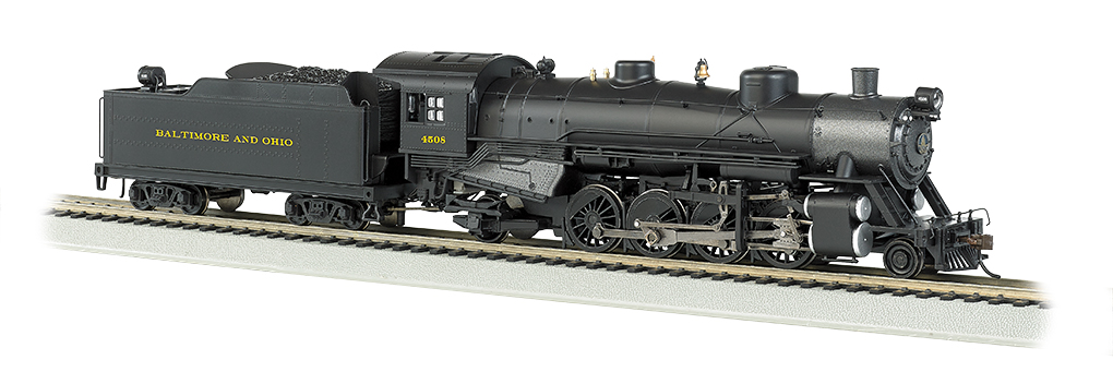 B & O® #4508 Light 2-8-2 w/Med. Tender - DCC Sound Value (HO) - Click Image to Close