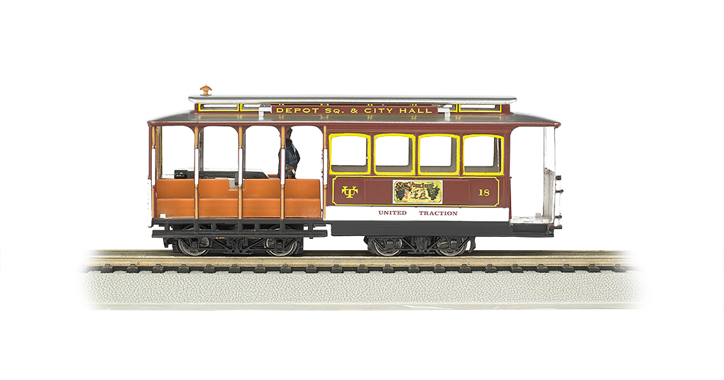 Yellow & Brown W/Advertising - Cable Car (HO Scale)