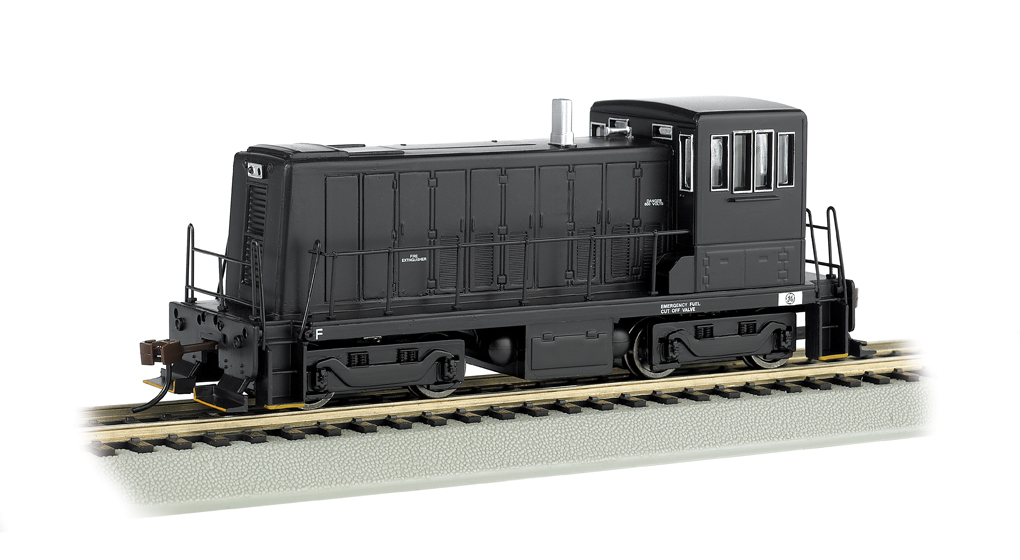 Painted, unlettered - black - GE 70-Ton - DCC (HO Scale)