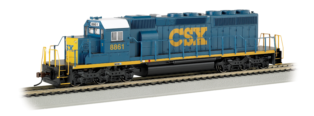 CSX® #8861 (Dark Future) - SD40-2 - DCC (HO Scale)