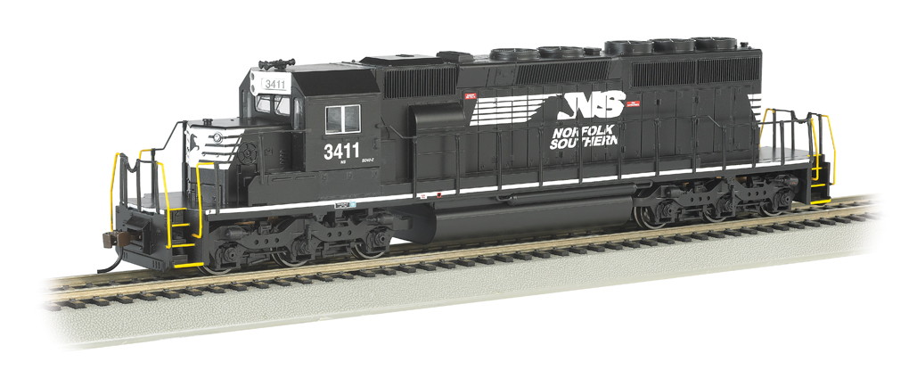 NORFOLK SOUTHERN #3411 (Thoroughbred) - SD40-2 - DCC (HO Scale)