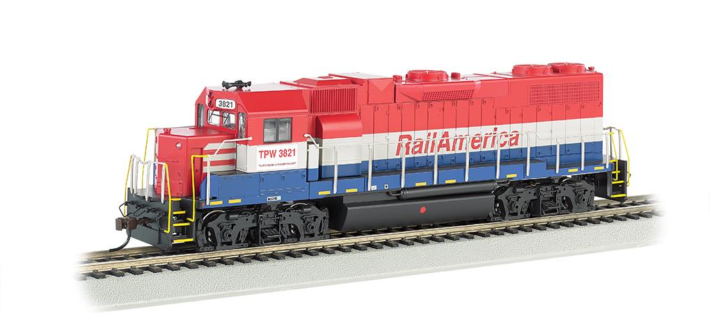 Bachmann 61718 HO EMD GP38-2 Standard DC RailAmerica TPW #3821