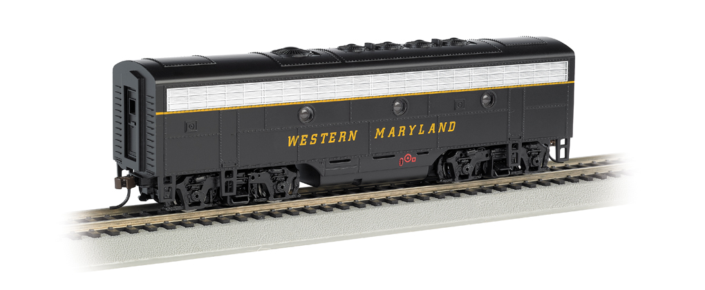 Western Maryland® (Speed Lettering) - F7B (HO Scale)