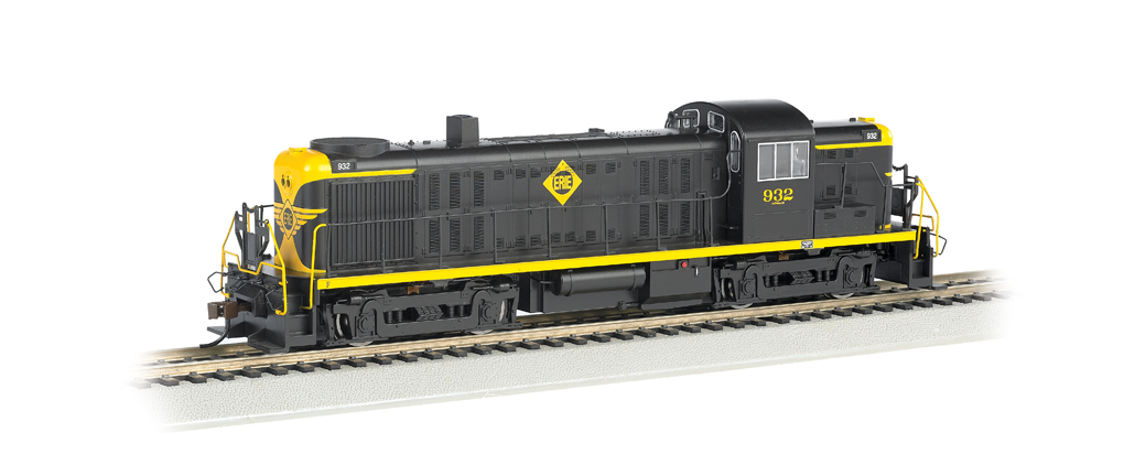 Erie #932 (Black & Yellow) - DCC Sound Value (HO ALCO RS-3)