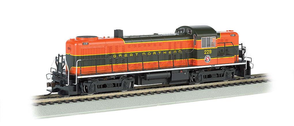 Great Northern # 229 - DCC Sound Value (HO ALCO RS-3)