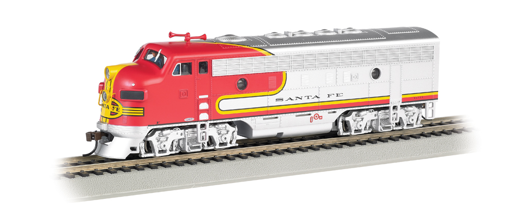 Santa Fe (Red & Silver) - F7A - DCC Sound Value (HO Scale)